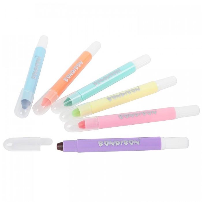 Картинка для Карандаши, восковые мелки, пастель Bondibon Набор гелевых карандашей для рисования 6 цветов ВВ2238