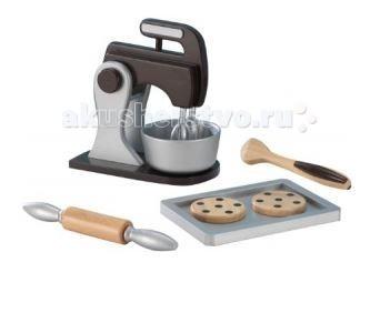 KidKraft Набор для выпечки EspressoНабор для выпечки EspressoKidKraft Набор для выпечки Espresso эти деревянные печенья выглядят настолько реалистично, что Вы почувствуете запах шоколада.  Набор для выпечки с миксером позволит маленьким хозяюшкам наслаждаться блюдами из теста собственного производства!   В комплектации есть достаточное количество разнообразных элементов, чтобы заинтересовать ребенка: миксер с вращающимися насадками  скалка с двигающимися деталями миска для теста противень лопатка 2 печенья с шоколадной крошкой.<br>