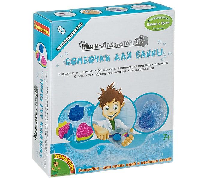 Картинка для Наборы для опытов и экспериментов Bondibon Французские опыты Науки с Буки Бомбочки для ванны