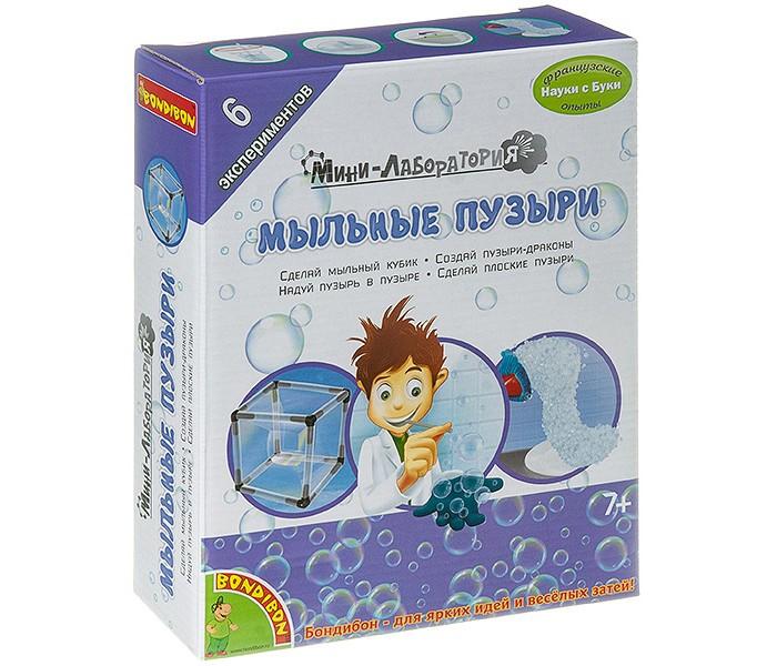 Картинка для Наборы для опытов и экспериментов Bondibon Французские опыты Науки с Буки Мыльные пузыри