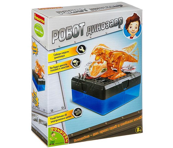 Картинка для Наборы для опытов и экспериментов Bondibon Французские опыты Науки с Буки Робот динозавр