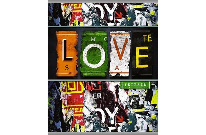 Картинка для Тетради Апплика Тетрадь Граффити Love линейка А5 (96 листов)