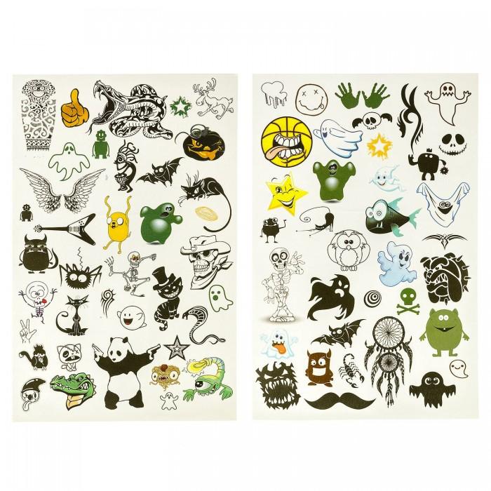 Наборы для творчества Bondibon Набор Тату-арт Приколы набор для творчества master iq создание временных татуировок тату party 8 видов тату с009