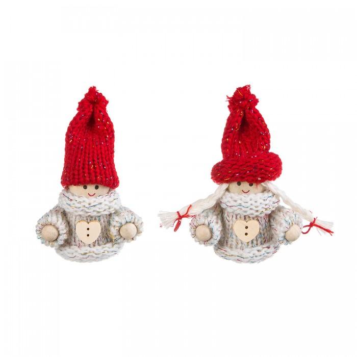 Картинка для Наборы кройки и шитья Bondibon Ёлочные игрушки своими руками Куклы 2 шт.