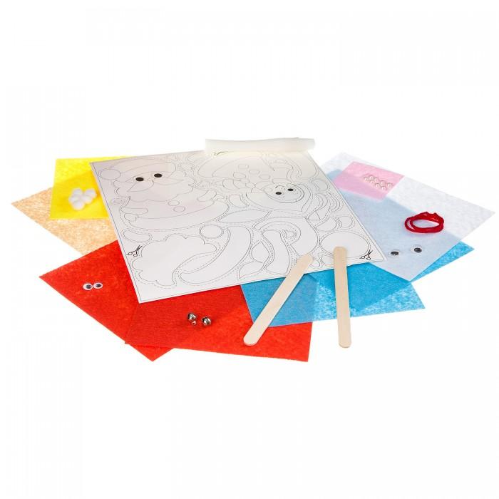 Картинка для Аппликации для детей Bondibon Поделки из фетра и картона (Дед Мороз, Снегурочка)