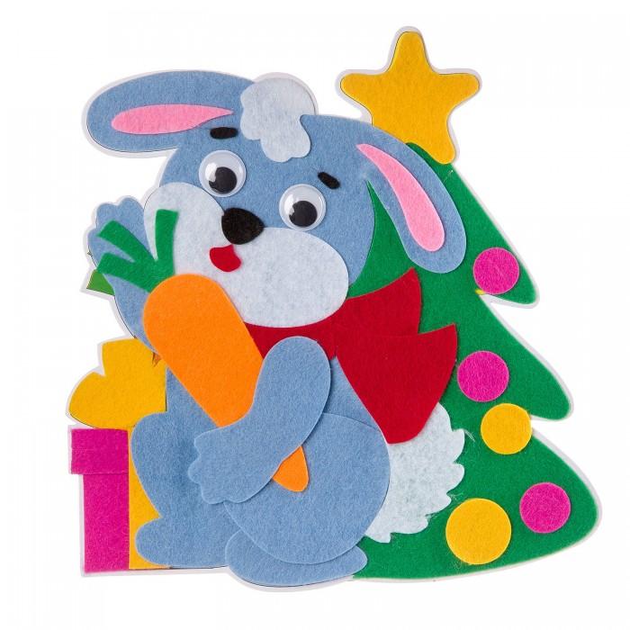 Аппликации для детей Bondibon Новогодний коллаж Зайчик