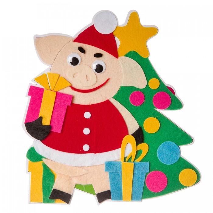 Аппликации для детей Bondibon Новогодний коллаж Свинья