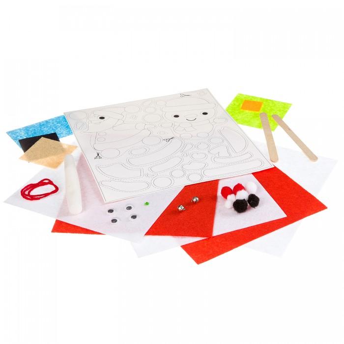 Картинка для Аппликации для детей Bondibon Поделки из фетра и картона (Дед Мороз, Снеговичок)