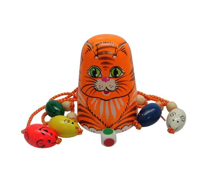 Картинка для Деревянные игрушки RNToys Игра Кошки-мышки Рыжая кошка