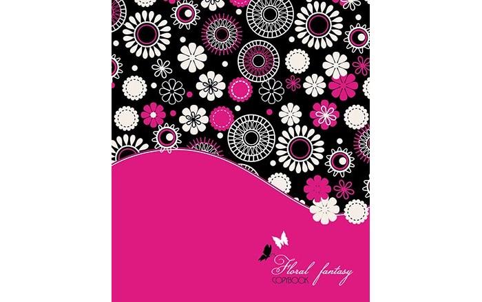 Картинка для Тетради Апплика Тетрадь Цветочный принт клетка А5 (48 листов)