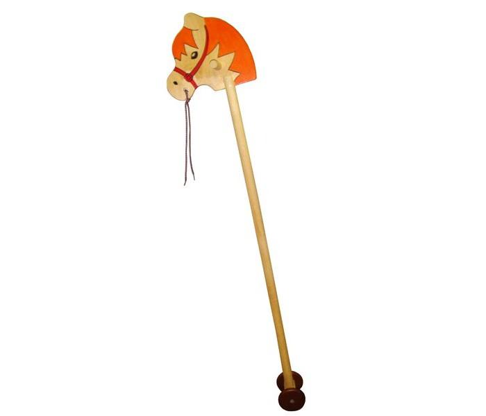 Деревянные игрушки RNToys Лошадка скакалка на колесиках