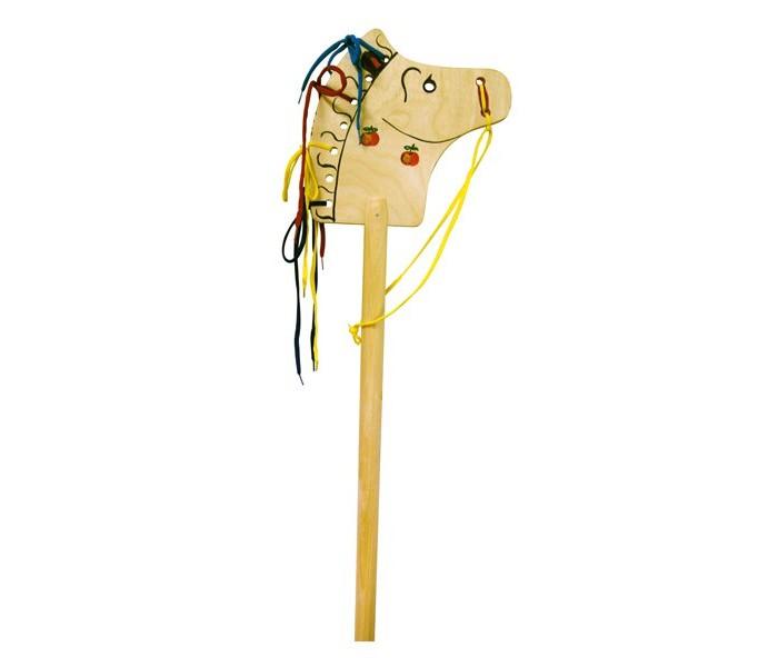 Деревянные игрушки RNToys Лошадка-скакалка В яблоках