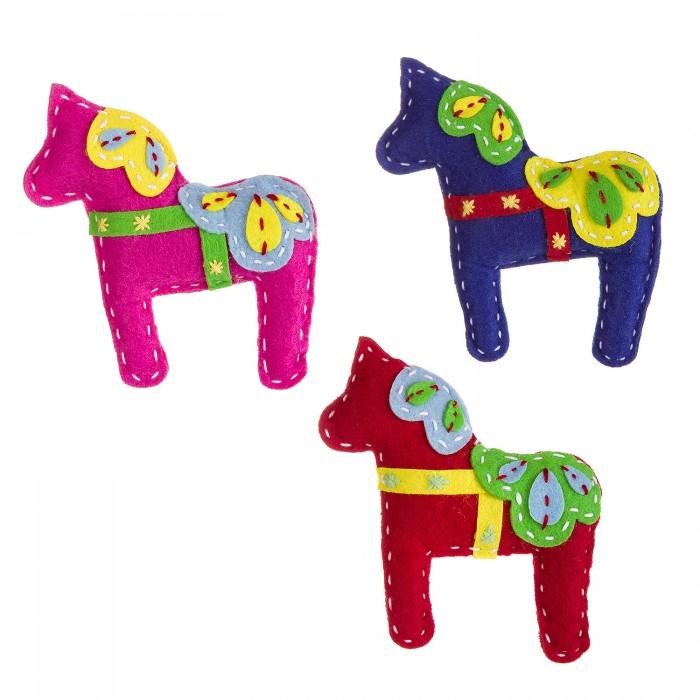 Наборы кройки и шитья Bondibon Ёлочные игрушки из фетра своими руками Лошадки