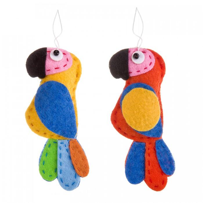 Наборы кройки и шитья Bondibon Ёлочные игрушки из фетра своими руками Попугаи