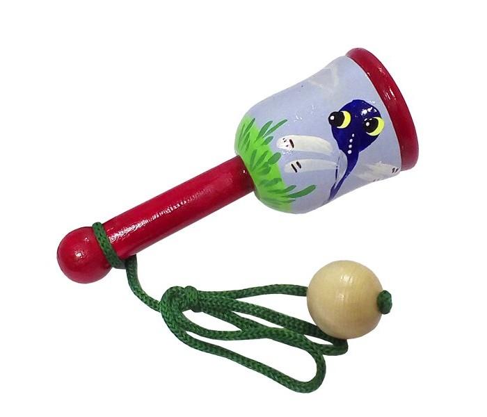 Картинка для Деревянные игрушки RNToys Поймай мяч расписной