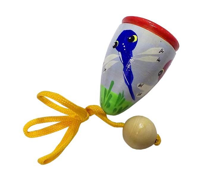 Картинка для Деревянные игрушки RNToys Поймай мяч 3 расписной