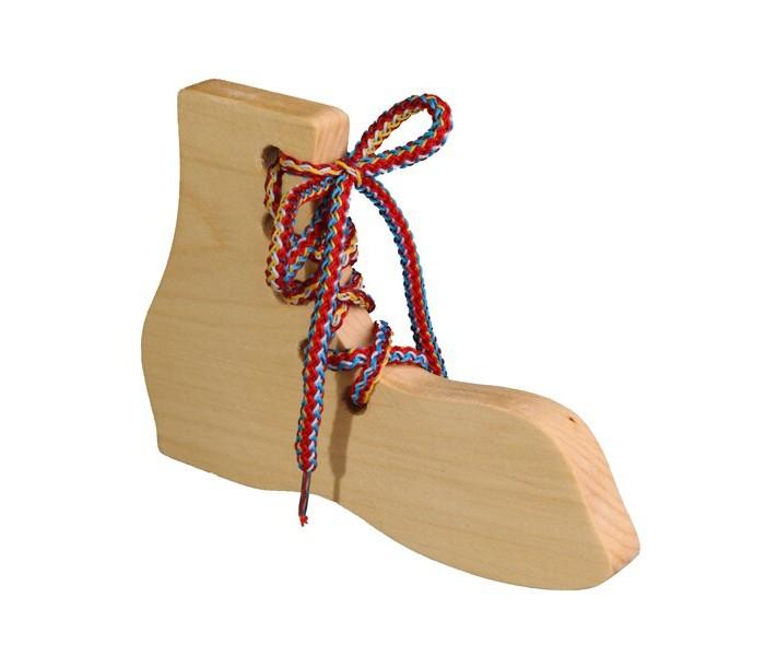 Картинка для Деревянные игрушки RNToys Башмак шнуровка