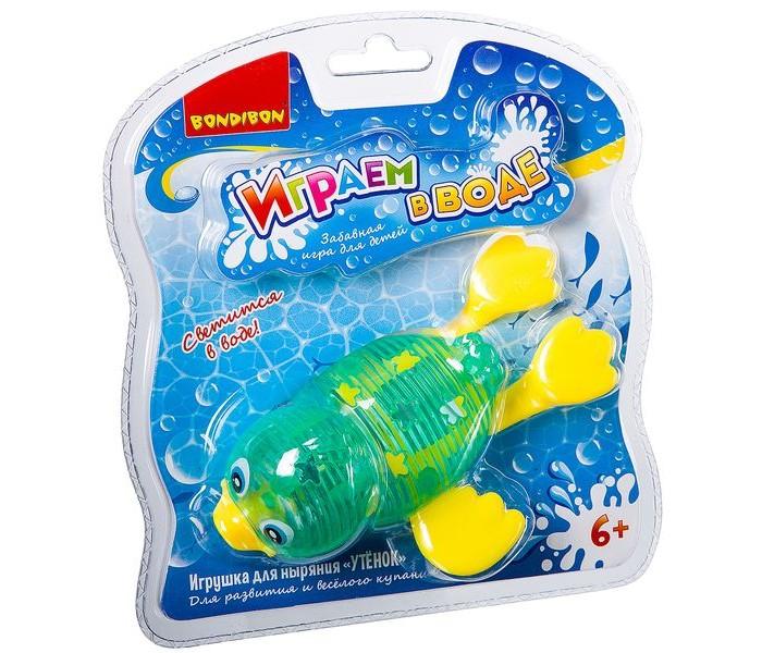 Картинка для Игрушки для ванны Bondibon Играем в воде. Утенок для ныряния со светом