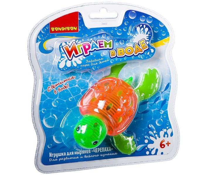 Картинка для Игрушки для ванны Bondibon Играем в воде. Черепаха для ныряния со светом