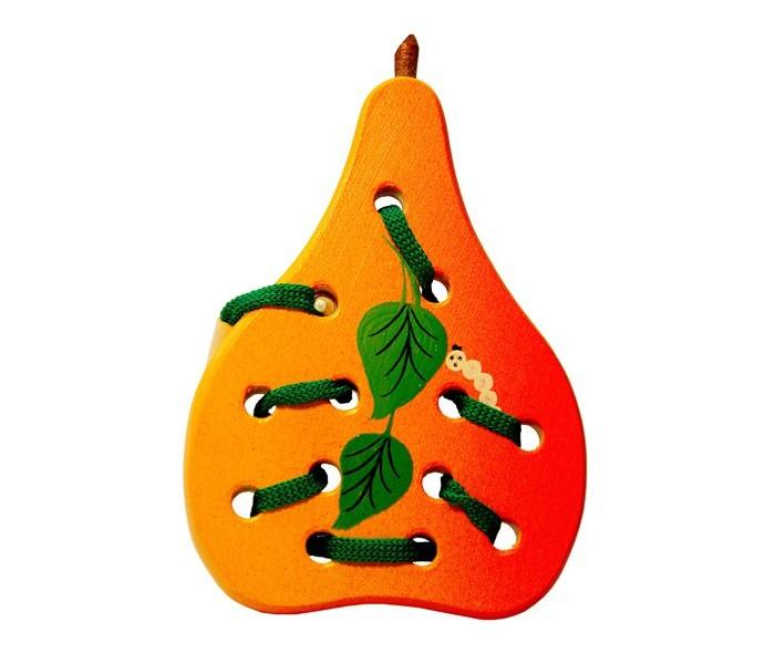 Картинка для Деревянные игрушки RNToys Груша плоская шнуровка