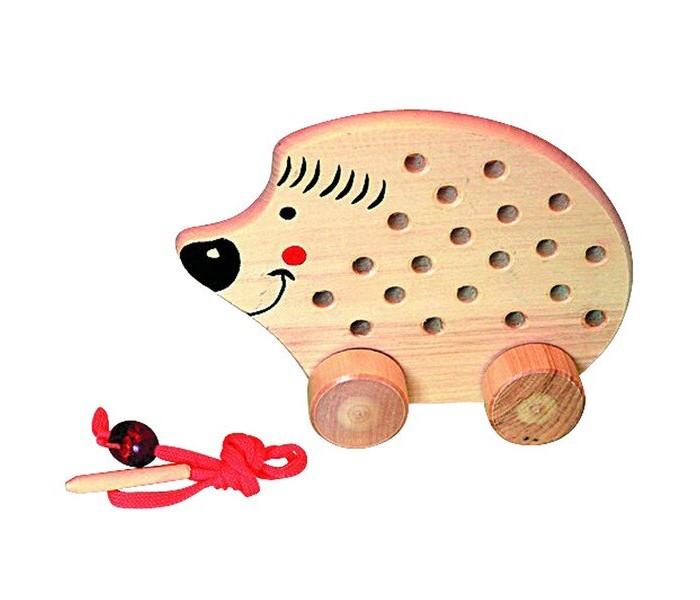 Деревянные игрушки RNToys Ежик на колесиках