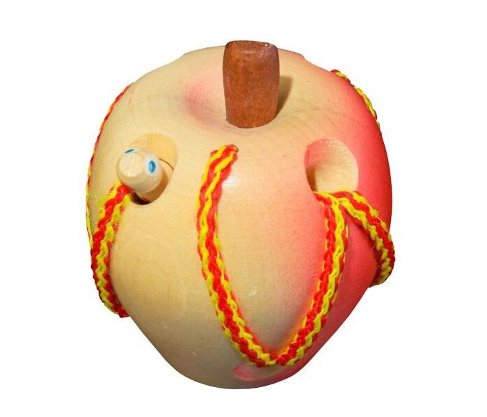 Картинка для Деревянные игрушки RNToys Яблоко шнуровка
