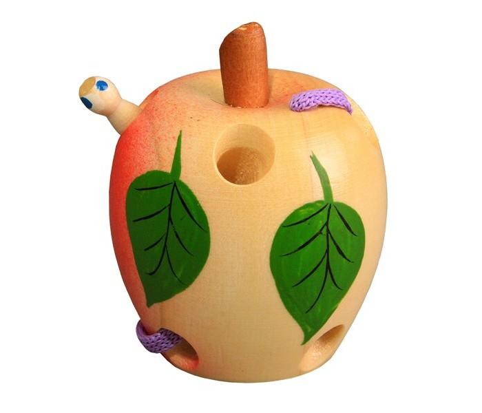 Картинка для Деревянные игрушки RNToys Яблоко шнуровка расписное