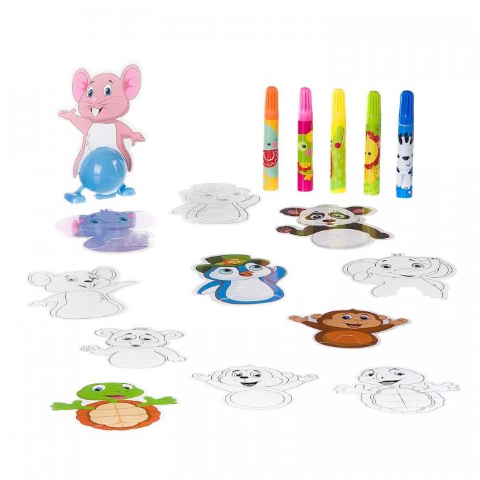 Купить Развивающие игрушки, Развивающая игрушка Bondibon Животные с заводным механизмом
