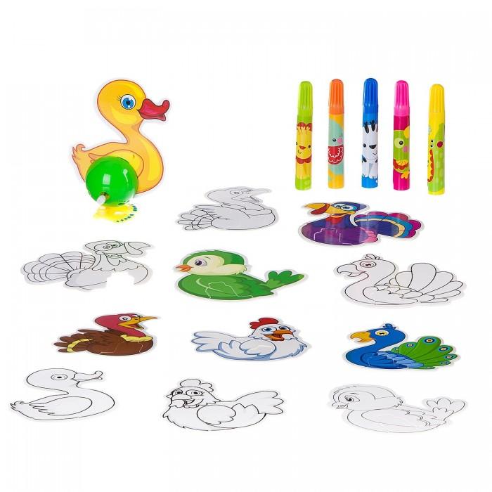 Купить Развивающие игрушки, Развивающая игрушка Bondibon Птицы с заводным механизмом
