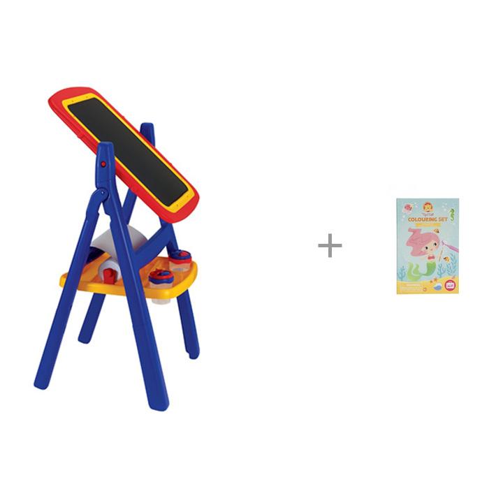 Картинка для Доски и мольберты Grown up Двухсторонний мольберт с комплектом для рисования Русалки