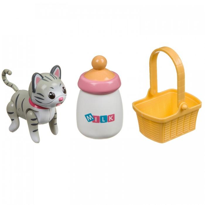 Картинка для Интерактивные игрушки Bondibon Кошечка с бутылочкой и корзинкой
