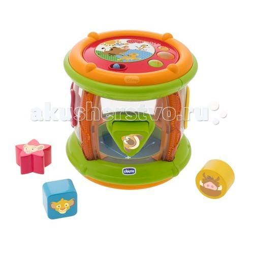 Сортеры Chicco Игрушка барабан музыкальный Король Лев 6 м+ игрушка для животных каскад барабан с колокольчиком 4 х 4 х 4 см