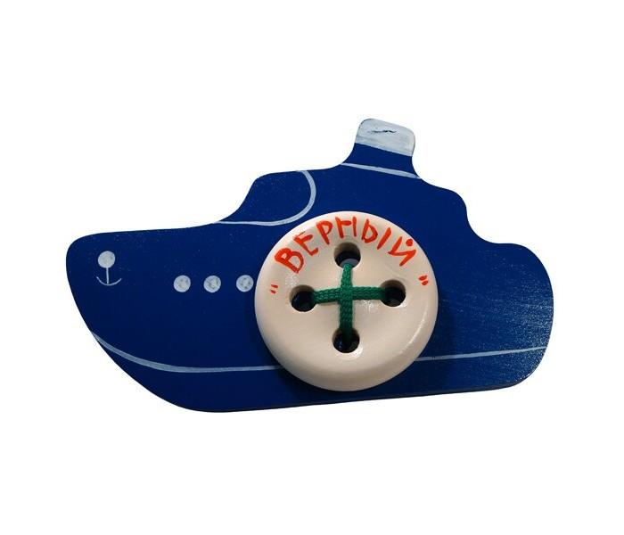 Картинка для Деревянные игрушки RNToys Кораблик Верный шнуровка