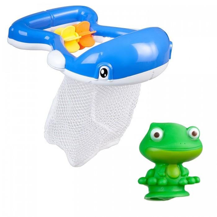 Картинка для Игрушки для ванны Bondibon Игровой набор для купания Кит-сачок
