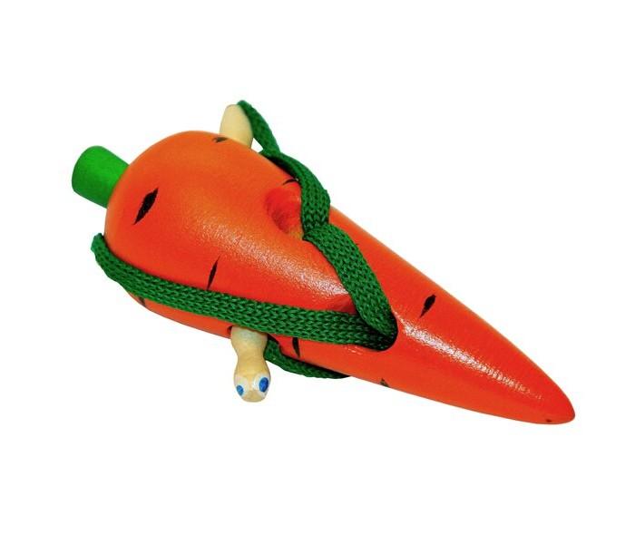 Картинка для Деревянные игрушки RNToys Морковь шнуровка