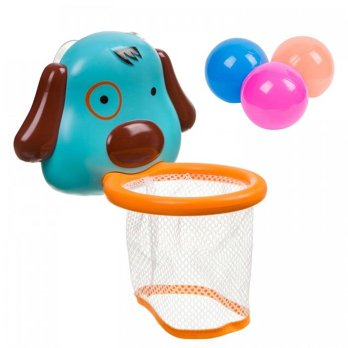 Картинка для Игрушки для ванны Bondibon Набор для купания Корзина с шариками Собачка