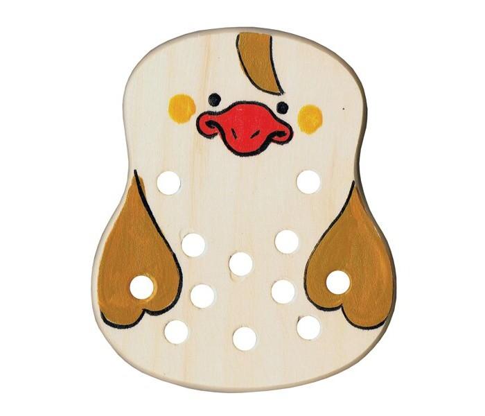 Картинка для Деревянные игрушки RNToys Утенок шнуровка