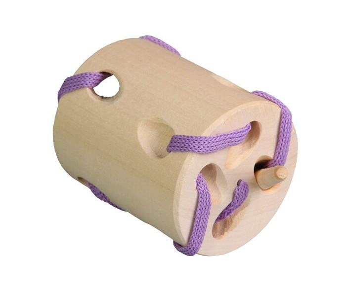 Картинка для Деревянные игрушки RNToys Цилиндрик шнуровка