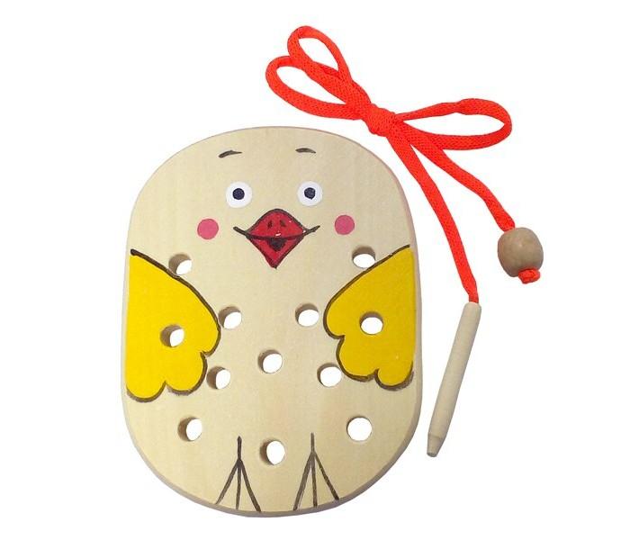 Картинка для Деревянные игрушки RNToys Цыпленок шнуровка