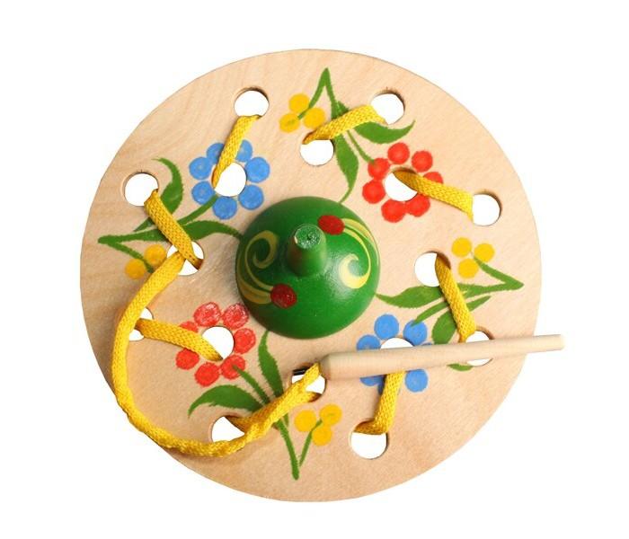 Картинка для Деревянные игрушки RNToys Юла шнуровка