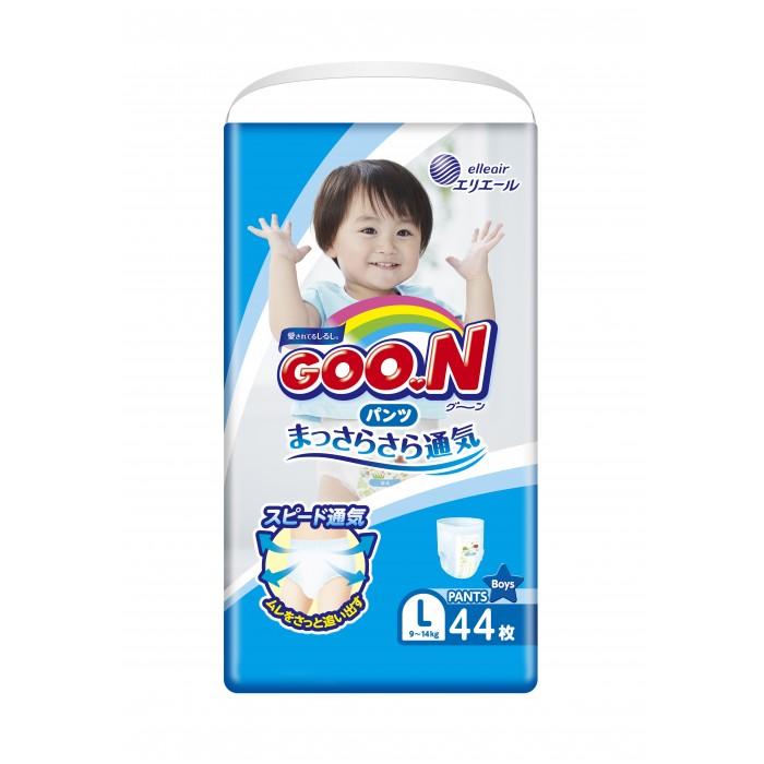 Подгузники-трусики GooN Подгузники-трусики для мальчиков L (9-14 кг) 44 шт. goon премиум 9 14 кг l 38 шт
