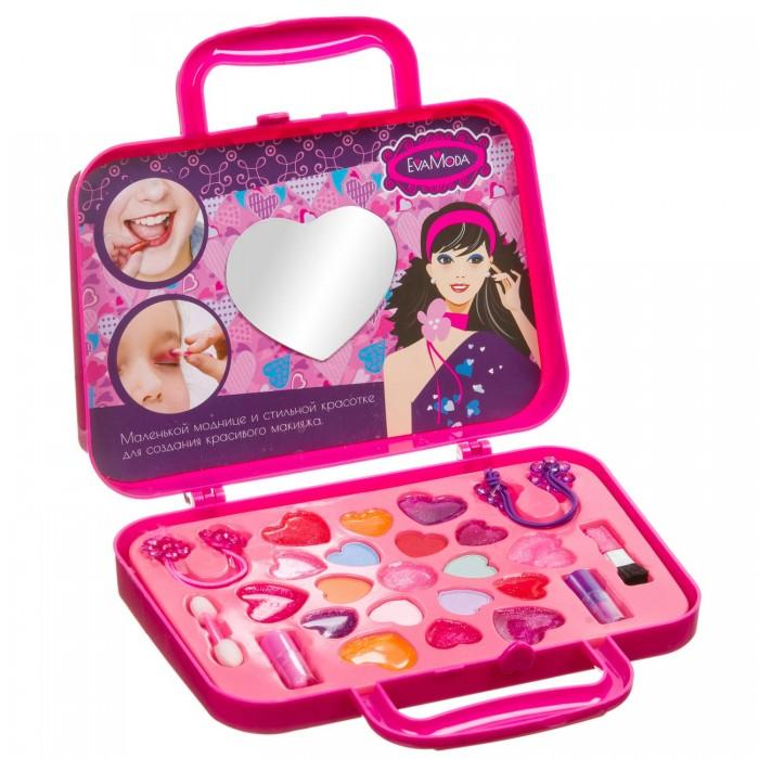 Картинка для Детская косметика Bondibon Набор детской декоративной косметики Eva Moda косметичка-сумочка с бантиком