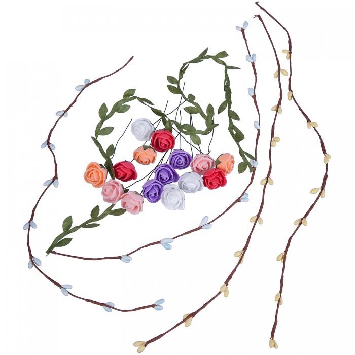 Картинка для Наборы для создания украшений Bondibon Набор для творчества Цветочный веночек