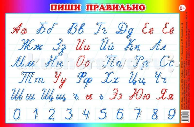 Обучающие плакаты Алфея Плакат Пиши правильно 44х59 плакаты s s интерактивный плакат роботрон