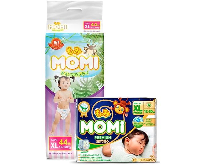 Momi Набор Подгузники XL и Ночные трусики премиум XL (12-20 кг)