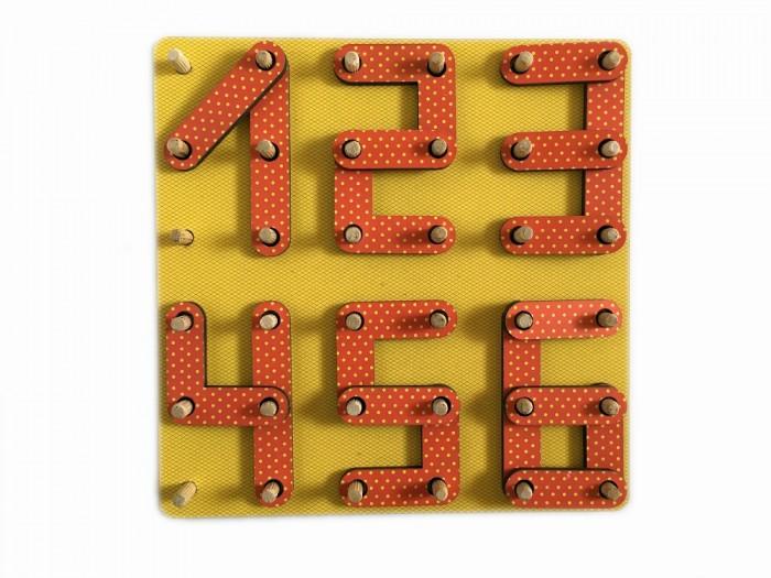 Картинка для Деревянные игрушки Сибирские игрушки Геоборд Цифры
