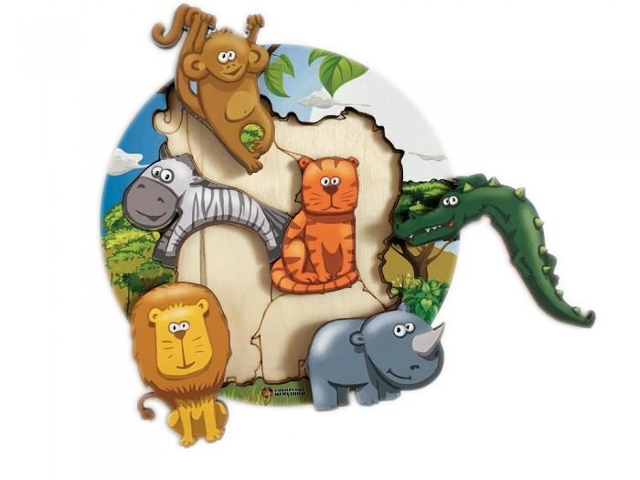 Картинка для Деревянные игрушки Сибирские игрушки Пазл-вкладыш Африка