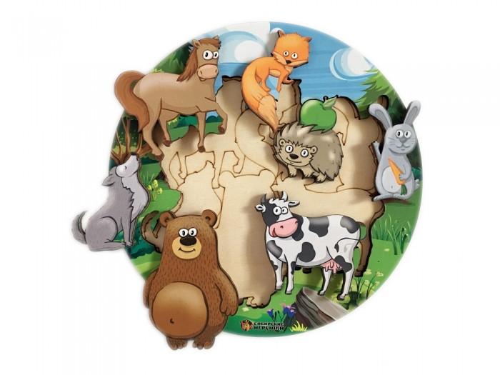 Картинка для Деревянные игрушки Сибирские игрушки Пазл-вкладыш Животные