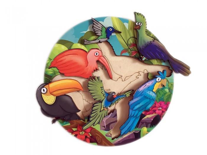 Картинка для Деревянные игрушки Сибирские игрушки Пазл-вкладыш Птицы