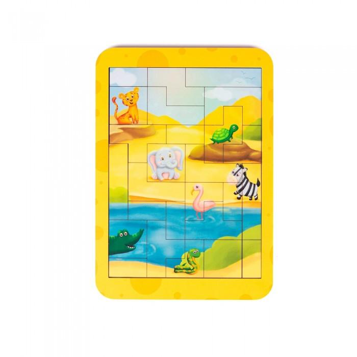 Картинка для Деревянные игрушки Сибирские игрушки Пазл-тетрис Африка